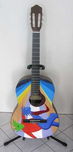 Gitarre um 2001 standart konzertgitarre bemalt verkauft